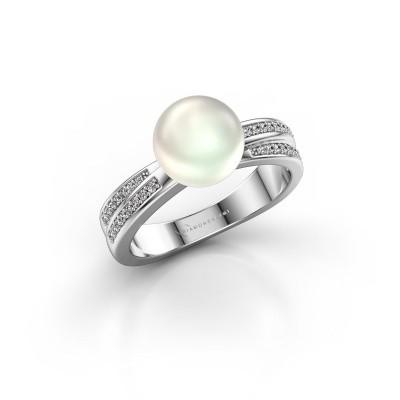 Foto van Ring Jolies 950 platina witte parel 8 mm