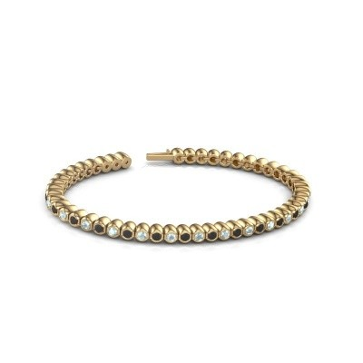 Foto van Tennisarmband Patrica 375 goud zwarte diamant 3.025 crt