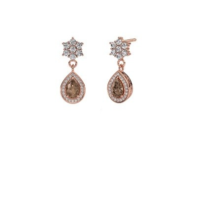 Picture of Drop earrings Era 585 rose gold brown diamond 1.43 crt