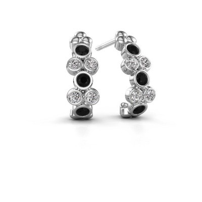 Picture of Earrings Kayleigh 925 silver black diamond 0.636 crt
