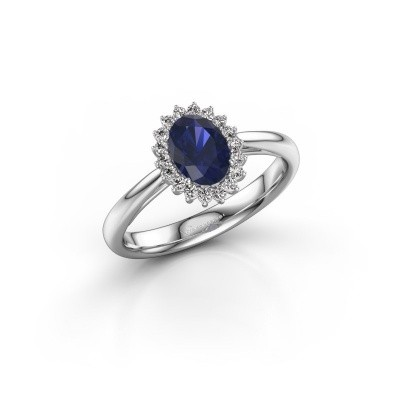 Picture of Engagement ring Tilly 1 585 white gold sapphire 7x5 mm