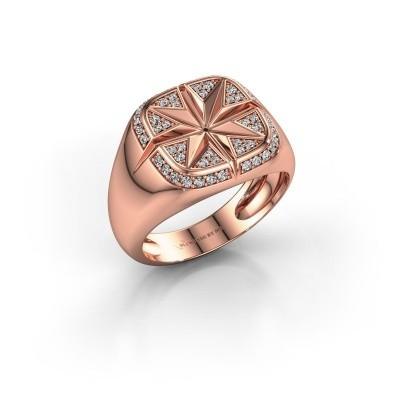 Foto van Heren ring Ravi 585 rosé goud zirkonia 1 mm