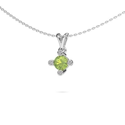 Picture of Pendant Cornelia Round 375 white gold peridot 5.5 mm