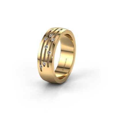 Trouwring WH0134L26B 585 goud lab created ±6x2 mm