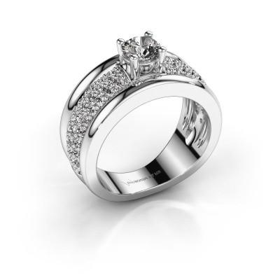 Foto van Ring Alicia 950 platina diamant 1.31 crt