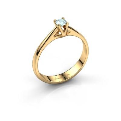 Foto van Verlovingsring Janna 1 750 goud aquamarijn 3.4 mm