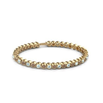 Foto van Tennisarmband Mellisa 375 goud bruine diamant 7.200 crt