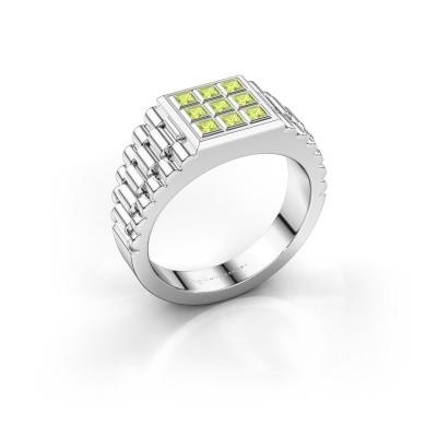 Foto van Rolex stijl ring Chavez 925 zilver peridoot 2 mm