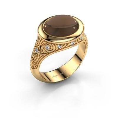 Foto van Ring Natacha 585 goud rookkwarts 12x10 mm