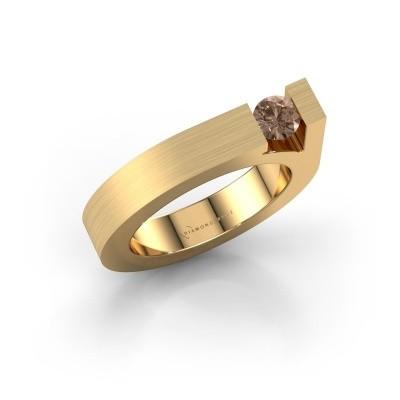 Foto van Ring Aisha 585 goud bruine diamant 0.30 crt