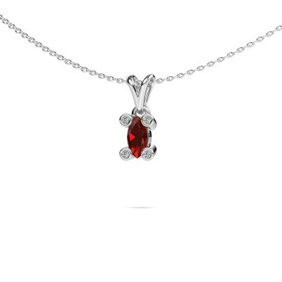 Picture of Necklace Cornelia Marquis 950 platinum garnet 7x3 mm