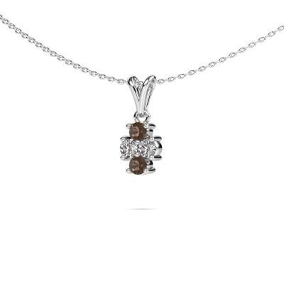 Picture of Necklace Richelle 925 silver smokey quartz 3 mm