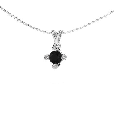 Picture of Pendant Cornelia Round 950 platinum black diamond 0.80 crt