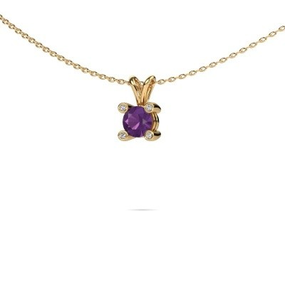 Picture of Pendant Fleur 585 gold amethyst 5 mm
