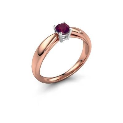 Foto van Verlovingsring Nichole 585 rosé goud rhodoliet 4.2 mm