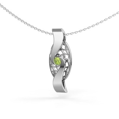 Picture of Pendant Darleen 585 white gold peridot 3 mm