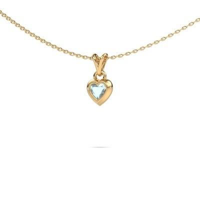 Bild von Anhänger Charlotte Heart 585 Gold Aquamarin 4 mm