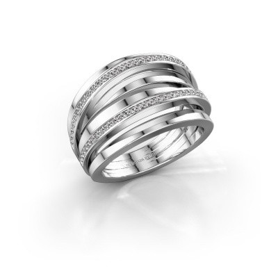 Ring Hilly 585 witgoud diamant 0.465 crt