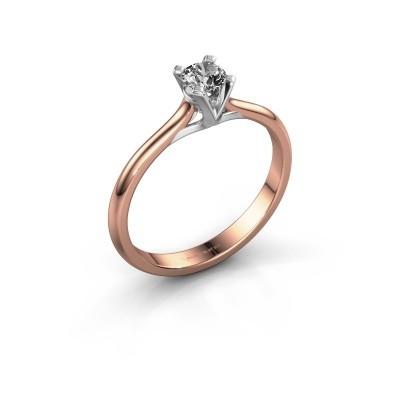 Foto van Verlovingsring Isa 1 750 rosé goud diamant 0.25 crt