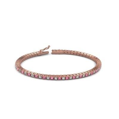 Foto van Tennisarmband Karisma 750 rosé goud roze saffier 2.4 mm