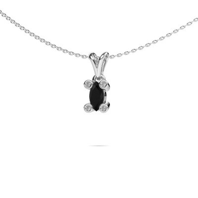 Picture of Necklace Cornelia Marquis 950 platinum black diamond 0.44 crt
