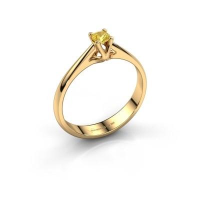 Foto van Verlovingsring Janna 1 750 goud gele saffier 3.4 mm