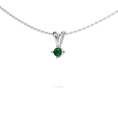 Picture of Necklace Jannette 925 silver emerald 3.7 mm