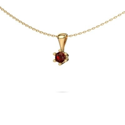 Picture of Necklace Fay 375 gold garnet 4 mm