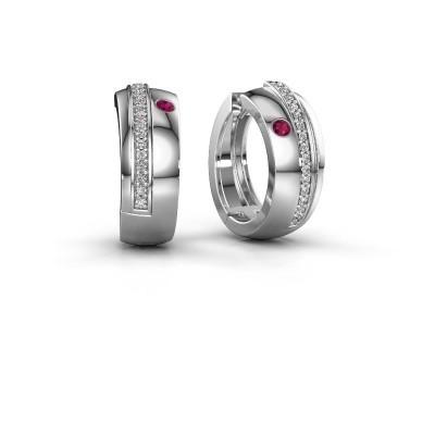 Picture of Hoop earrings Shakita 925 silver rhodolite 2 mm