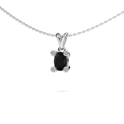 Picture of Necklace Cornelia Oval 950 platinum black diamond 0.98 crt