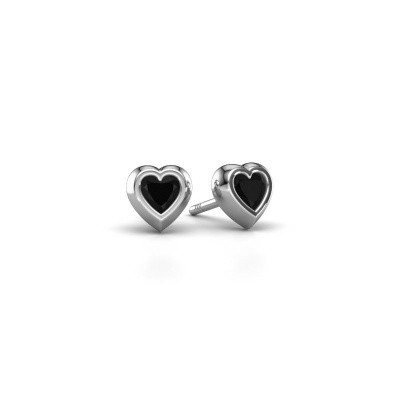 Picture of Stud earrings Charlotte 925 silver black diamond 0.60 crt