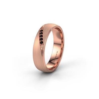 Trouwring WH2150L25AM 585 rosé goud zwarte diamant ±5x1.7 mm