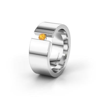 Trouwring WH0146L18BP 925 zilver citrien ±8x2 mm
