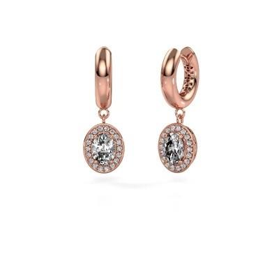 Picture of Drop earrings Annett 375 rose gold zirconia 7x5 mm