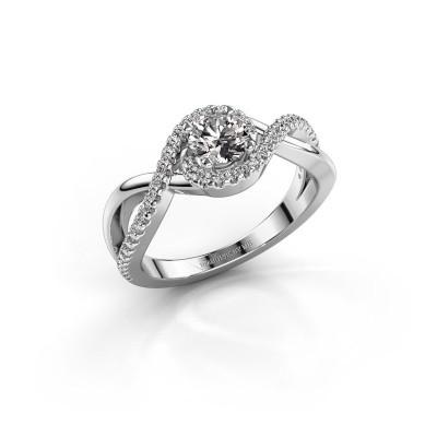 Bild von Verlobungsring Melody 585 Weissgold Diamant 0.735 crt