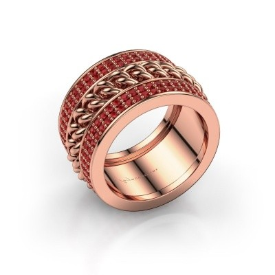 Foto van Ring Jayda 375 rosé goud robijn 1.2 mm