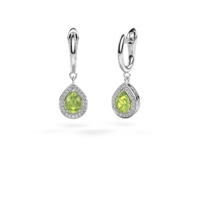Picture of Drop earrings Ginger 1 950 platinum peridot 7x5 mm