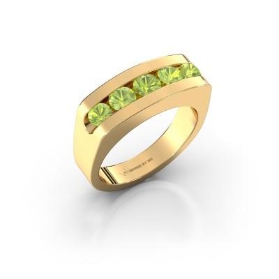 Foto van Heren ring Richard 375 goud peridoot 4 mm
