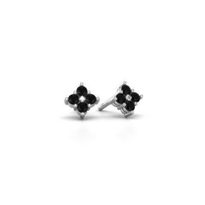Picture of Stud earrings Maryetta 925 silver black diamond 0.288 crt