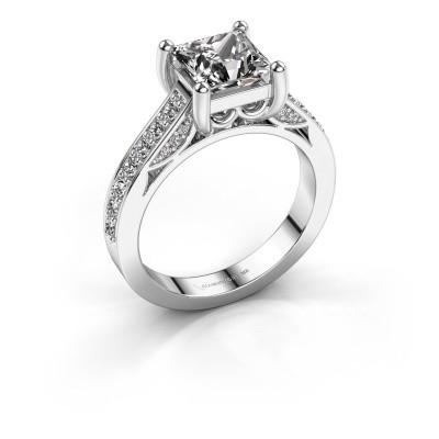 Foto van Verlovings ring Feline 585 witgoud diamant 2.120 crt