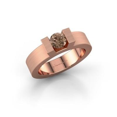 Foto van Ring Leena 1 375 rosé goud bruine diamant 0.50 crt