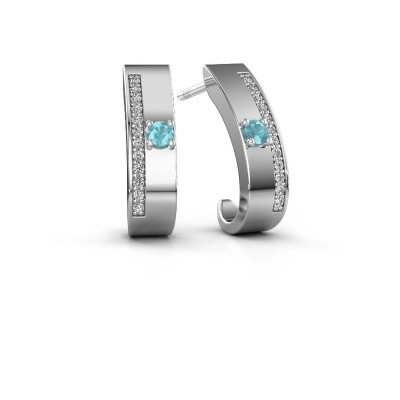 Picture of Earrings Vick1 925 silver blue topaz 2.4 mm