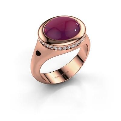 Foto van Ring Lesli ovl 585 rosé goud rhodoliet 12x10 mm