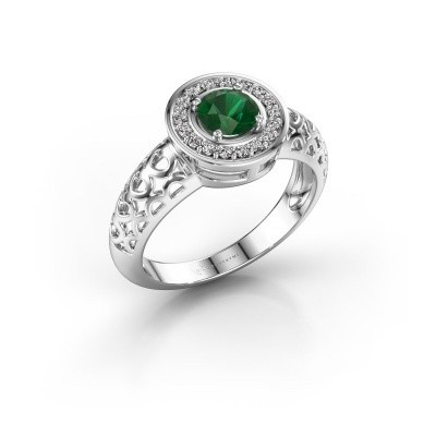 Picture of Ring Katalina 750 white gold emerald 5 mm