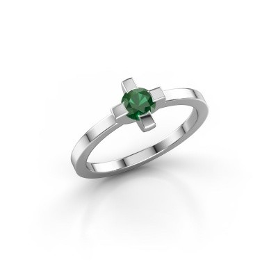 Picture of Ring Therese 585 white gold emerald 4.2 mm
