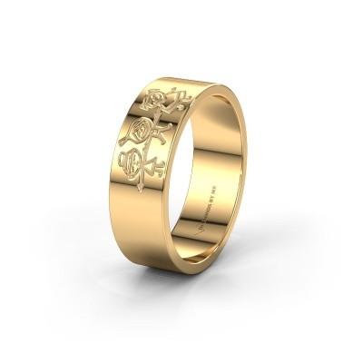 Trouwring FAIRY 585 goud ±7x1.7 mm