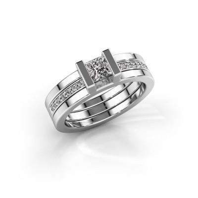 Foto van Ring Desire 585 witgoud zirkonia 4 mm