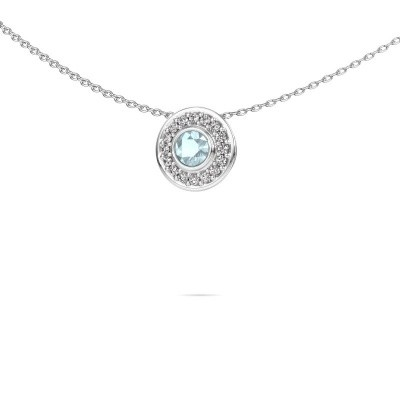 Picture of Necklace Gretta 585 white gold aquamarine 4 mm