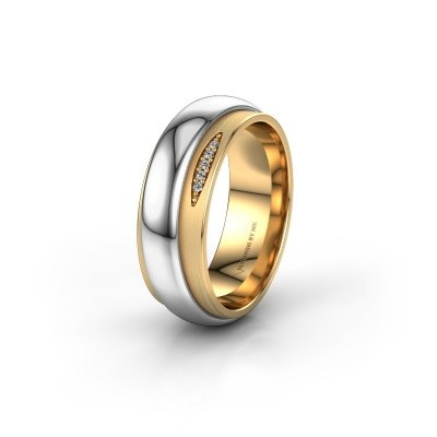 Trouwring WH2038L 585 goud diamant ±7x2.4 mm