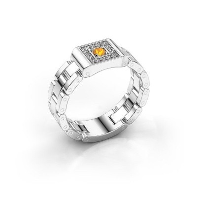Foto van Rolex stijl ring Giel 585 witgoud citrien 2.7 mm